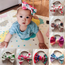 Toddler Girl Baby Big Bow Hairband Kid Headband Stretch Knot Head Accessories  Bow Knot Headband