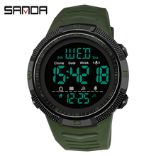 SANDA Sport Outdoor Men Watch Digital Electronic Wristwatches Male Stopwatch Chronograph Shockproof Waterproof relogio masculino