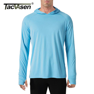 Image 3 - TACVASEN Sun Protection T Shirts Men Long Sleeve Casual UV Proof Hooded T Shirts Breathable Lightweight Performance Hike tshirts