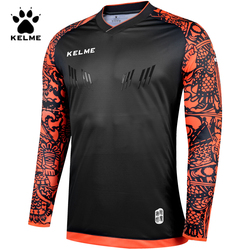 KELME Goalkeeper Uniforms Kid Soccer Jerseys Traning Shirts Long Sleeve Doorkeepers Shirts Football Sponge Protector Child K080C