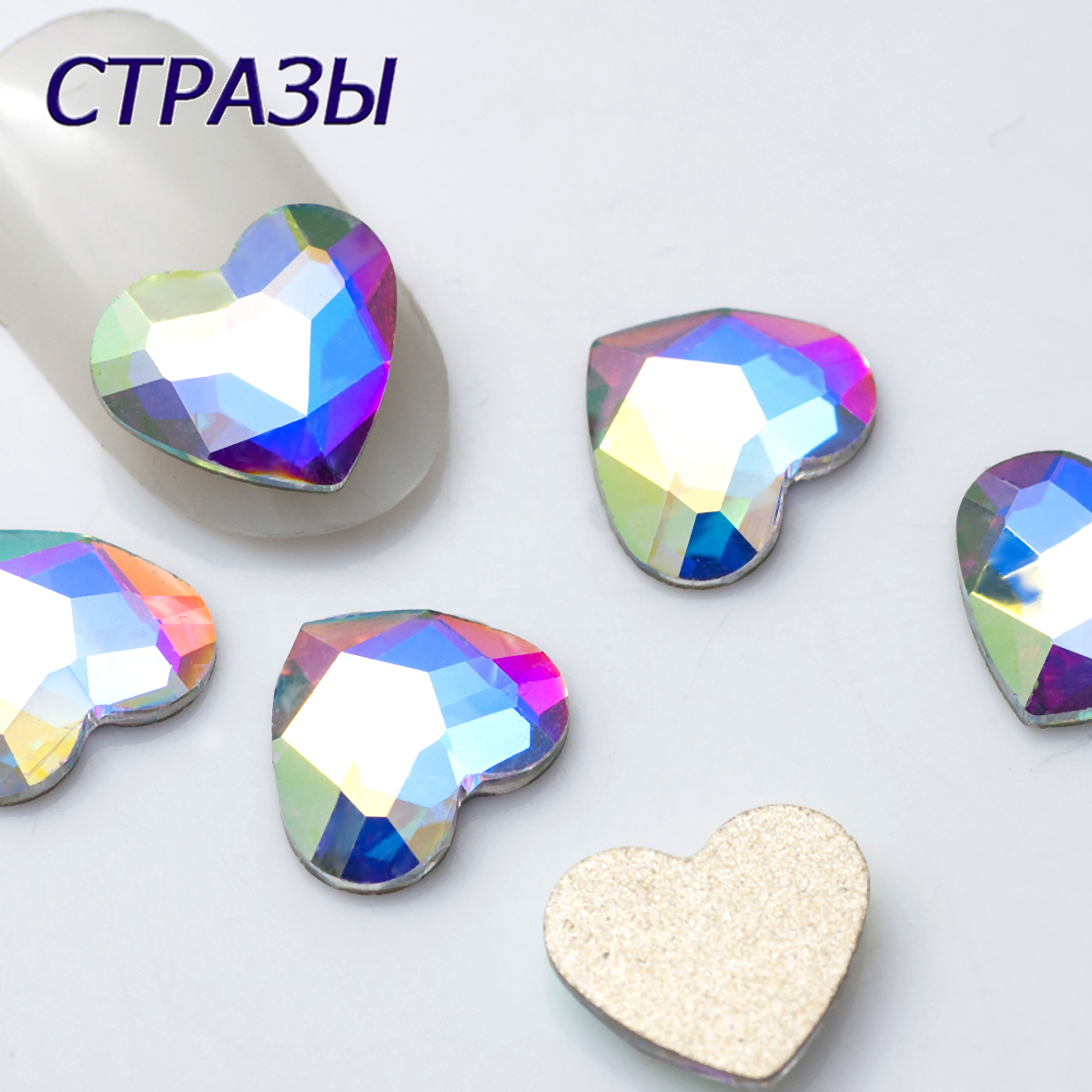 TOP Quality Strass Korean Fashion 3D Nail Art Rhinestone Heart Flatback Pixie Crystal Stones For DIY Nail art Decoration