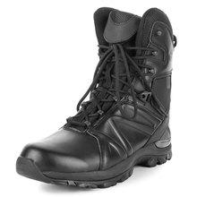 Us wojskowe skórzane buty dla mężczyzn buty wojskowe piechoty buty taktyczne Askeri Bot armia czarne buty buty wojskowe tanie tanio CQB SWAT Podstawowe CN (pochodzenie) Mikrofibra ANKLE Stałe Dla dorosłych Mesh Okrągły nosek RUBBER Wiosna jesień Niska (1 cm-3 cm)