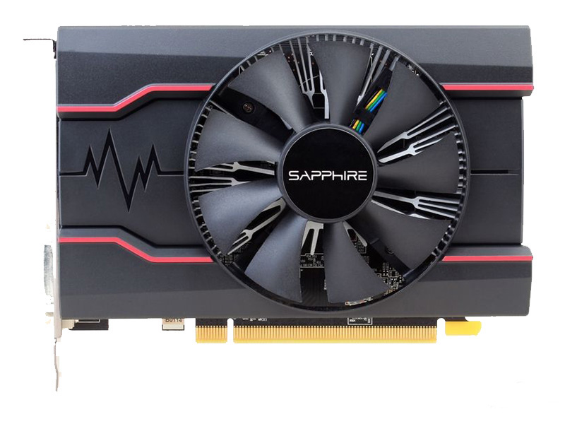 Utilisé, saphir RX550 2GB DDR5 cartes graphiques PC ordinateur de bureau carte de jeu PCI-E X16