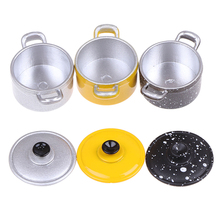 Accessories Kitchen-Toys Cooking-Ware Doll-House Play Mini 1:12 Pot Boiler-Pan