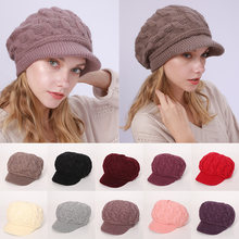 Ушанка вязаная шапка Модные женские шляпы зимние шапки удобство