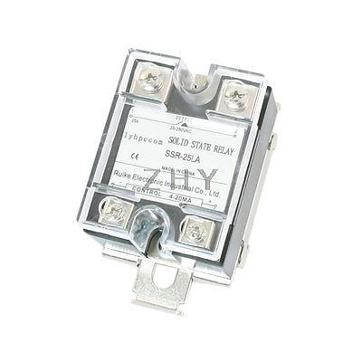 4 20mA to AC 28 280V 25A One Phase 35mm DIN Rail Socket Solid State Relay