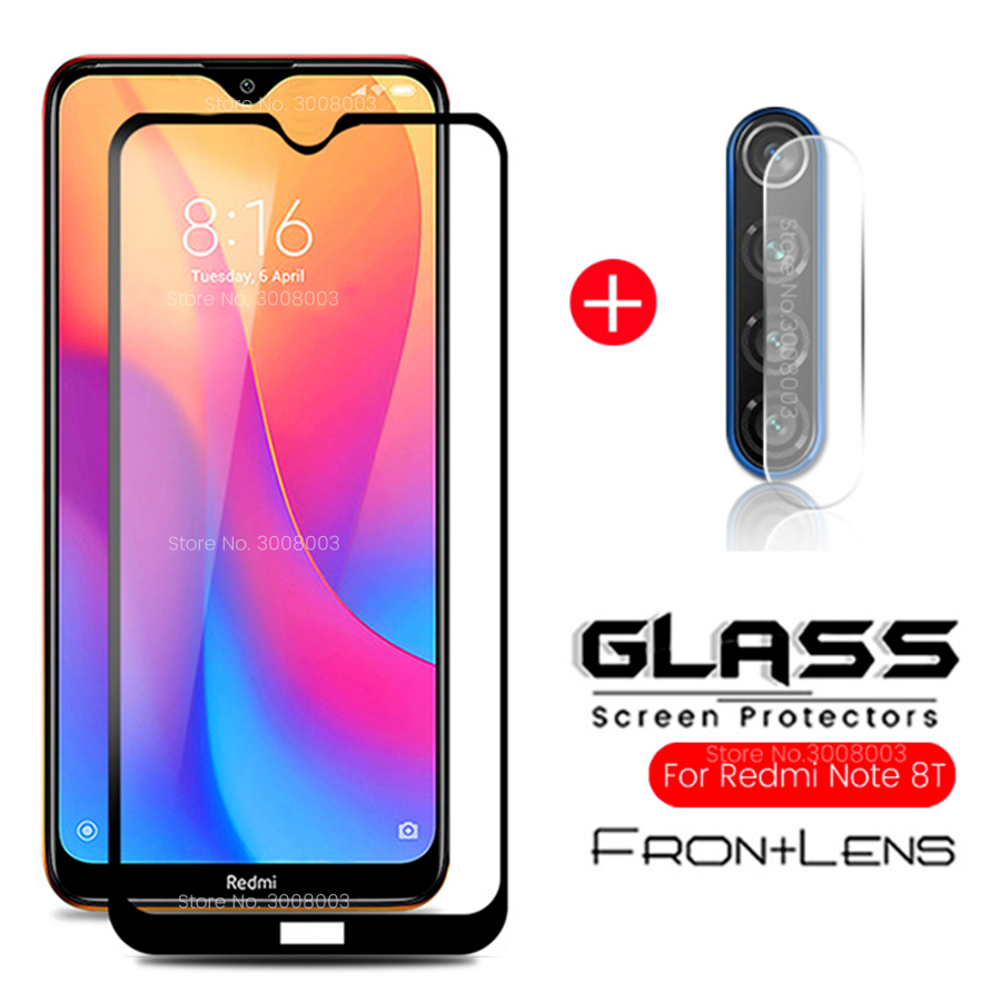 2-in-1 Protective Glass For Xiaomi Redmi Note 8 Pro Camera Protector Glass On Redmi Note 8t 8 T 8a Safety Glasses Red Mi Note 7