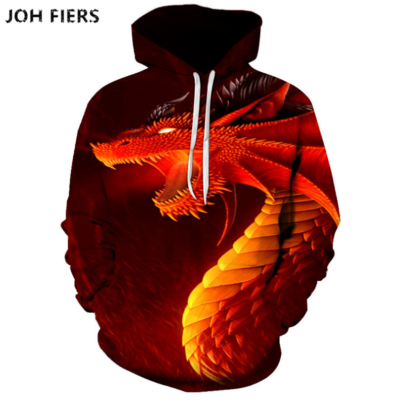 Fiery dragon Pull Over Men Women Unisex 3D Print Hoodies  Sweatshirt Jacket Pullover Top S-6XL