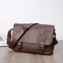 Casual Style Men Briefcase Bag Fashion Shoulder PU Messenger Bags Waterproof Office Handbag Document Case Portfolio