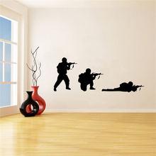 Прохладный в стиле милитари солдат настенные наклейки с оружием