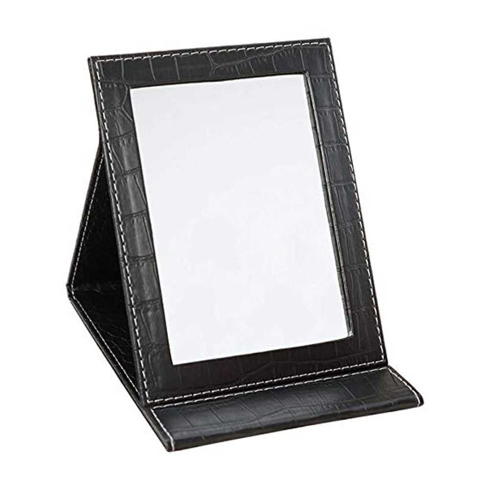 Pu Leather Mirror Folding Desktop