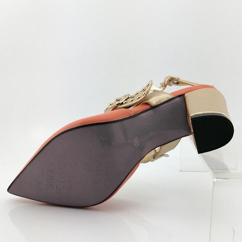 2019 комплект из женской обуви и сумочки в африканском стиле; Цвет белый; итальянский дизайн; обувь с сумочкой; удобная женская обувь на каблуке - 2