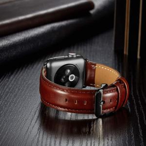Image 5 - 本革ストラップapple watchバンド42ミリメートル44ミリメートルapple watch 4/5 38ミリメートル40ミリメートルコレア交換ブレスレットためiwatch 3/2/1