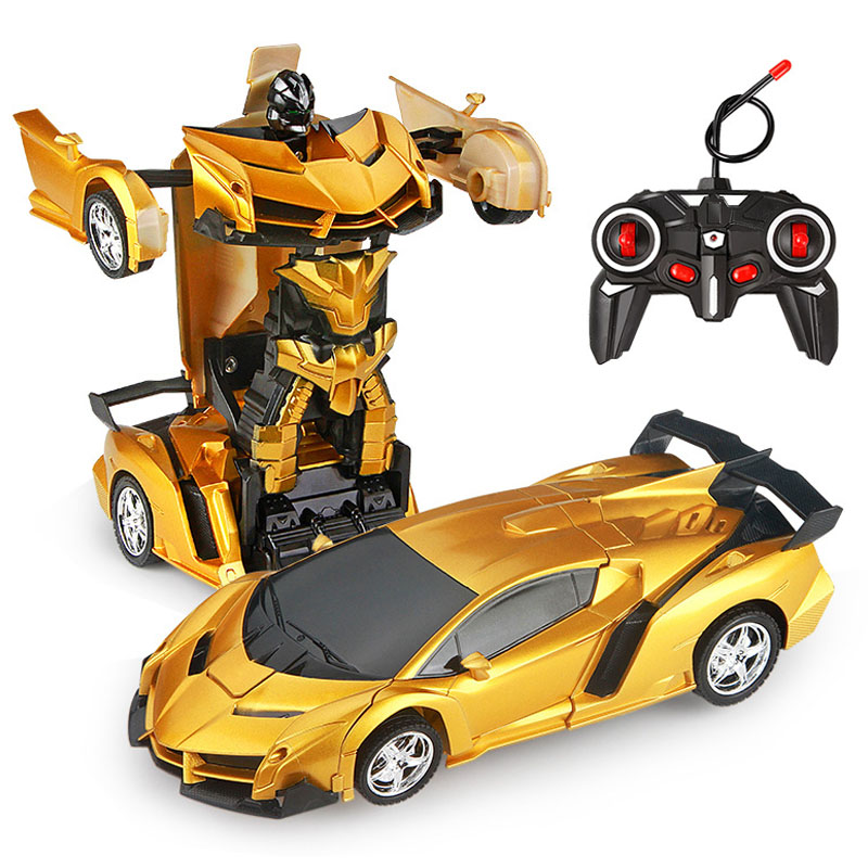 24 Styles RC Car Transformation Robots Sports Vehicle Model Robots Toys Remote Cool Deformation Car Kids Toys Gifts For Boys