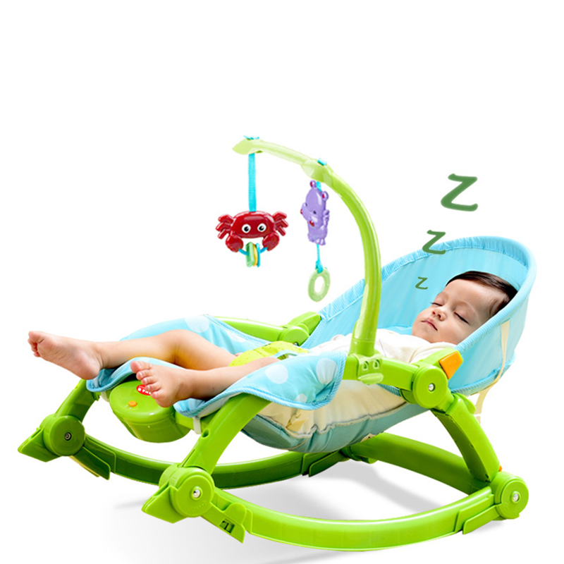 Baby Rocking Chair Reclining Chair Comforting Chair Neonatal Cradle Bed Electric Rocking Chair Baby Sleeping Baby Artifact