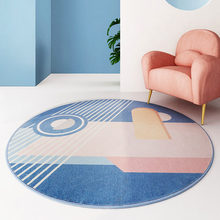 Nordic Modern Round Carpet Living Room Home Simple Bedroom Carpet Kids Room Computer Chair Round Rug Bedside Hallway Doormat(China)
