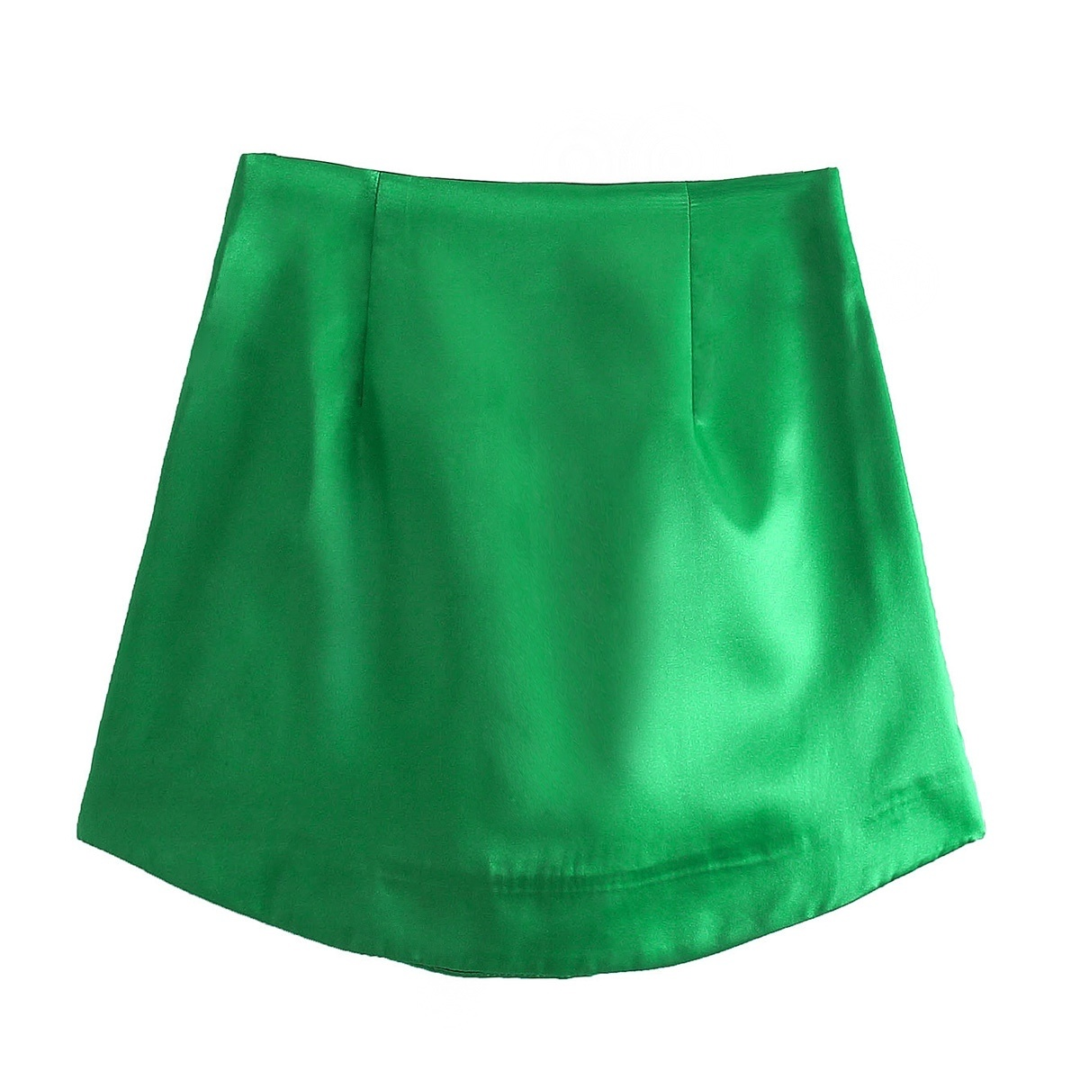 Zevity Women High Street Solid Color Side Zipper Sexy Mini Skirt Faldas Mujer Ladies Light Soft Casual Slim Chic Vestidos QUN765