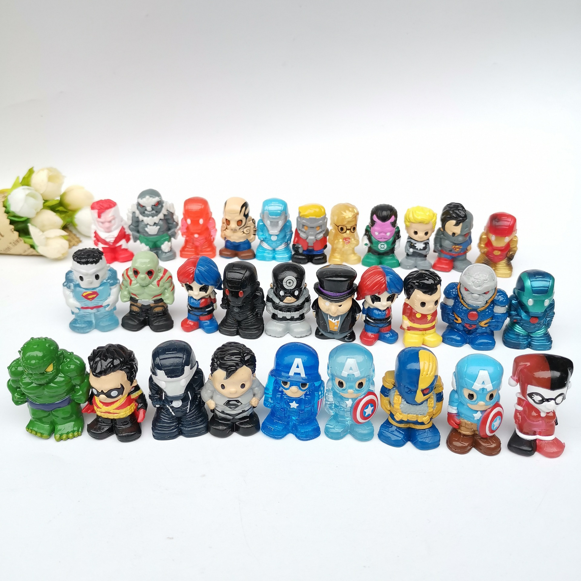 10pcs/lot 4-5cm HOT Anime  Action Figures Super Heros Soft Rubber Vinyl Cartoon Toy Doll Plastic PVC Gifts