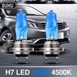 SUHU 2Pcs HOD H7 100W High Quality Bulb Auto Car Headlights Sun Light/Ultra-white Light 4500K Car Fog Auto Headlamps Accessories