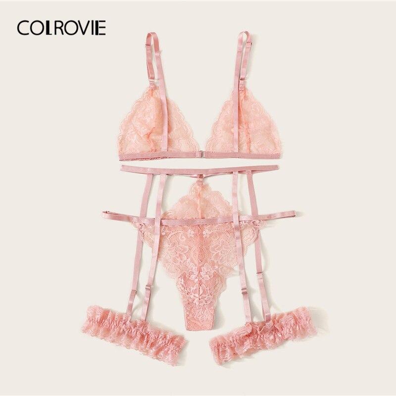 Купить женский кружевной комплект нижнего белья colrovie бюстгальтер