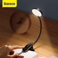 Baseus Book Light USB Led Rechargeable Mini Clip-On Desk Lamp Light Flexible Nightlight