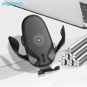 Image 1 - FDGAO 15W מהיר צ י אלחוטי מטען לרכב עבור iPhone 11 פרו XS XR X 8 סמסונג S10 S9 הערה 10 טעינה מהירה רכב הר מחזיק טלפון