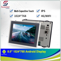 8.0 1024X768 Android Industrial Grade IPS TFT LCD Module Display Screen with w/ Multi Capacitive Touch Panel & Enclosure