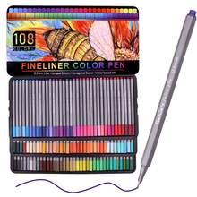 Ensemble de stylos de couleur Fineliner, colorés, pointes en feutre, Ultra fines, 108mm, 0.4 couleurs individuelles, marqueur à pointe poreuse, dessin
