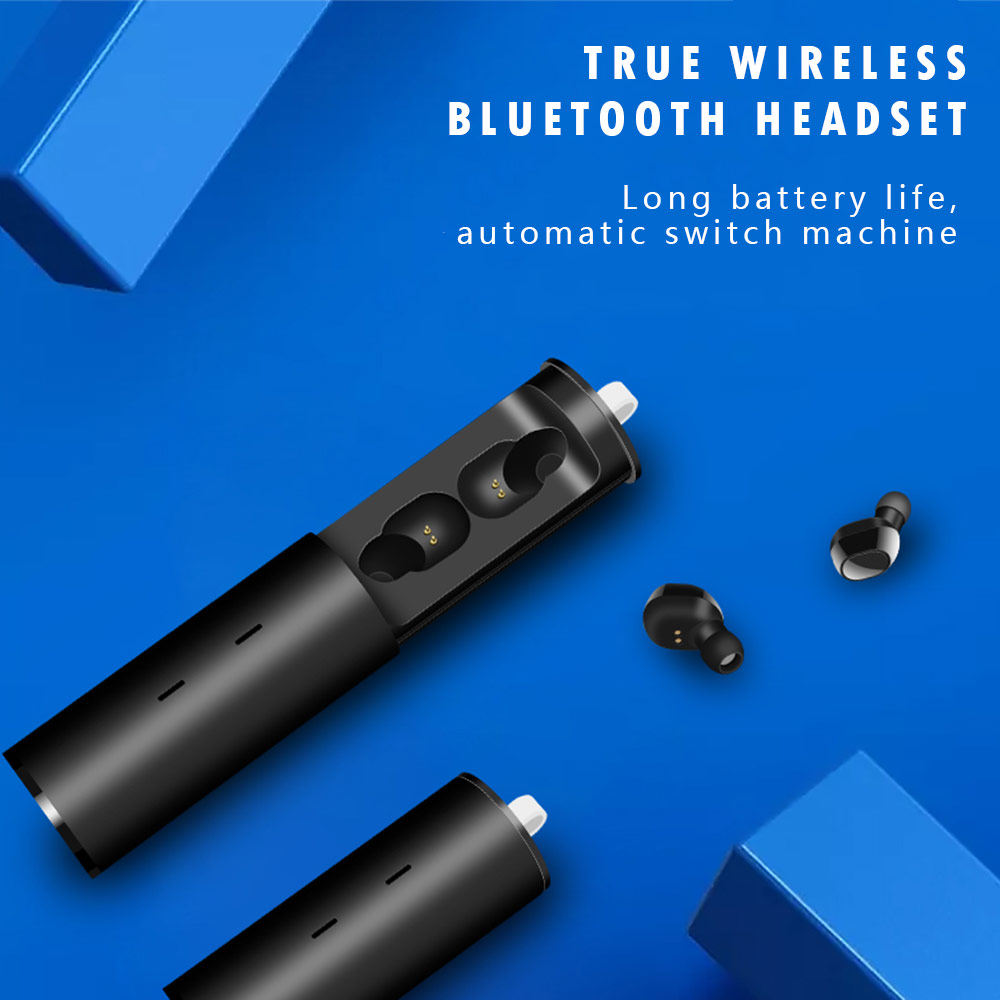 <font><b>TWS</b></font>-<font><b>19</b></font> Bluetooth Earphone 3D Stereo Earbugs Wireless Earphone Mini <font><b>TWS</b></font> Waterproof Headfrees Headset with Charging Box Sport image