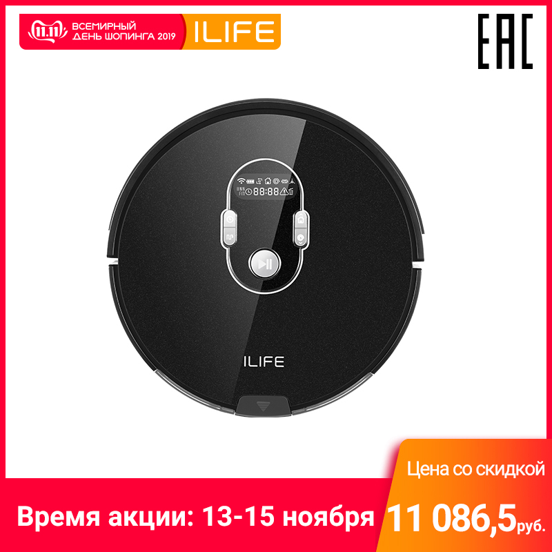 Robot vacuum cleaner ILIFE A7 control by WiFi (150 min for one charge, 76mm)