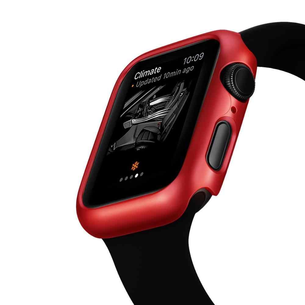Couverture mate pour Apple Watch série 5 4 44mm 40mm cadre étui de protection coque de couverture parfait pare-chocs étui pour iWatch 4 couverture