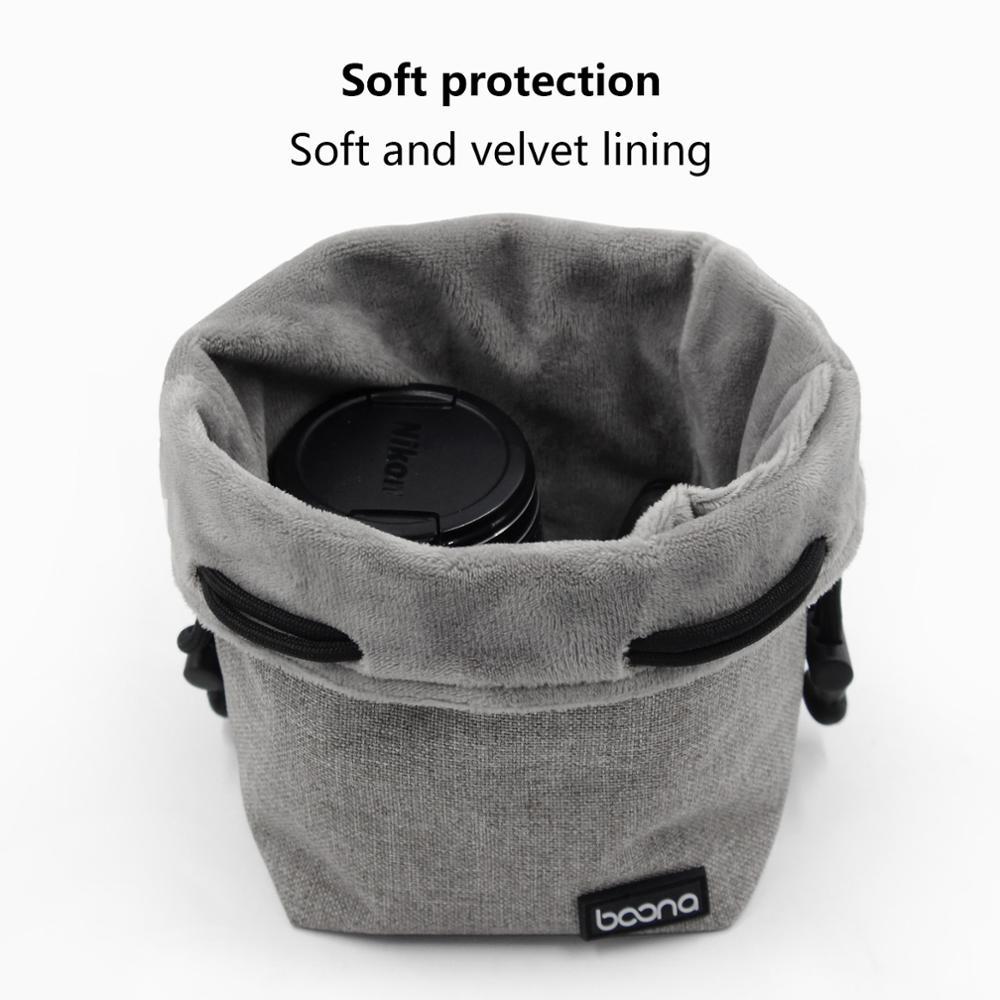 Nikon Terciopelo Suave Bolsa de objetivo pequeño