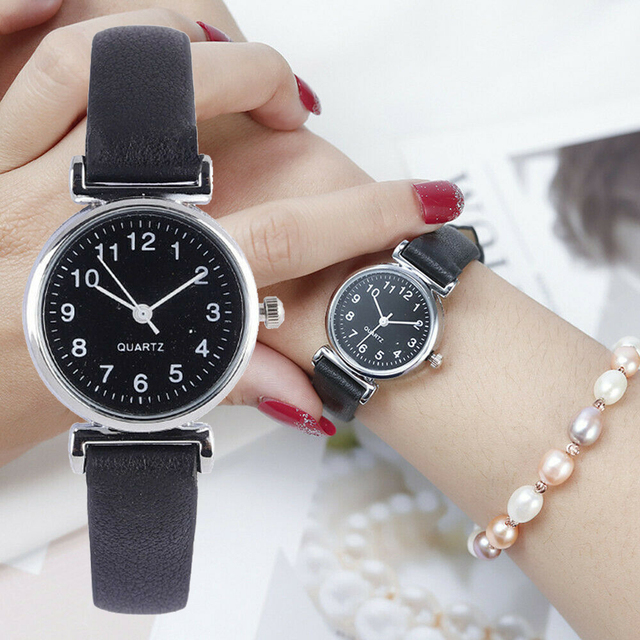 Classic Women's Watches Casual Quartz Leather Strap Band Watch Round Analog Clock Wrist Watches 1