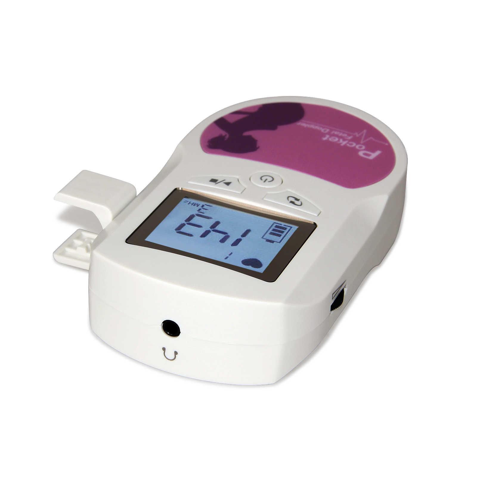 Panduan Kehamilan Bayi Suara Fetal Doppler dengan 2Mhz Probe dengan LCD Display & Keras Suara Eksternal Bayi Detak Jantung monitor