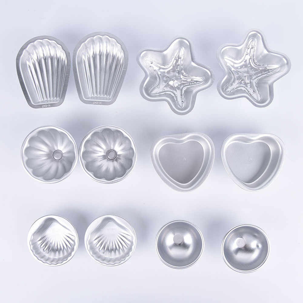 Aluminum Metal Bath Bomb Mold Mould For DIY Fizzles Homemade Crafting Blasting Bath Salt Ball Mold