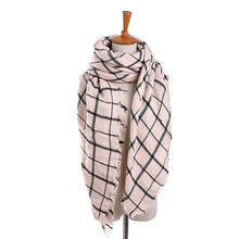 Косынка Двусторонняя плед шарф увеличить одеяло тип шарф шаль