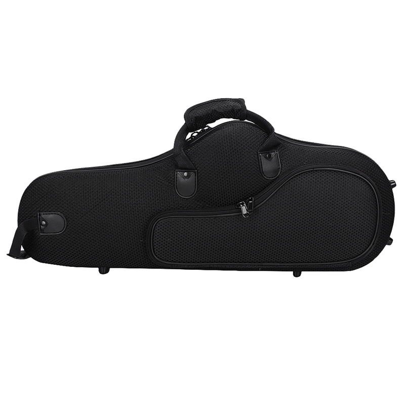 Water-Resistant Oxford Fabric Alto Saxophone Big Bag Box Sax Soft Case With Adjustable Shoulder Strap,Black