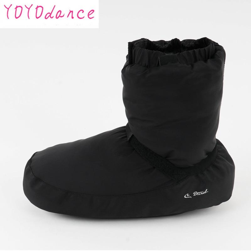 Ladies Black Purple Ballet Point Warm-up  Shoes Castle Flo  Dance Boot Fit For 22.5cm To 26.5cm