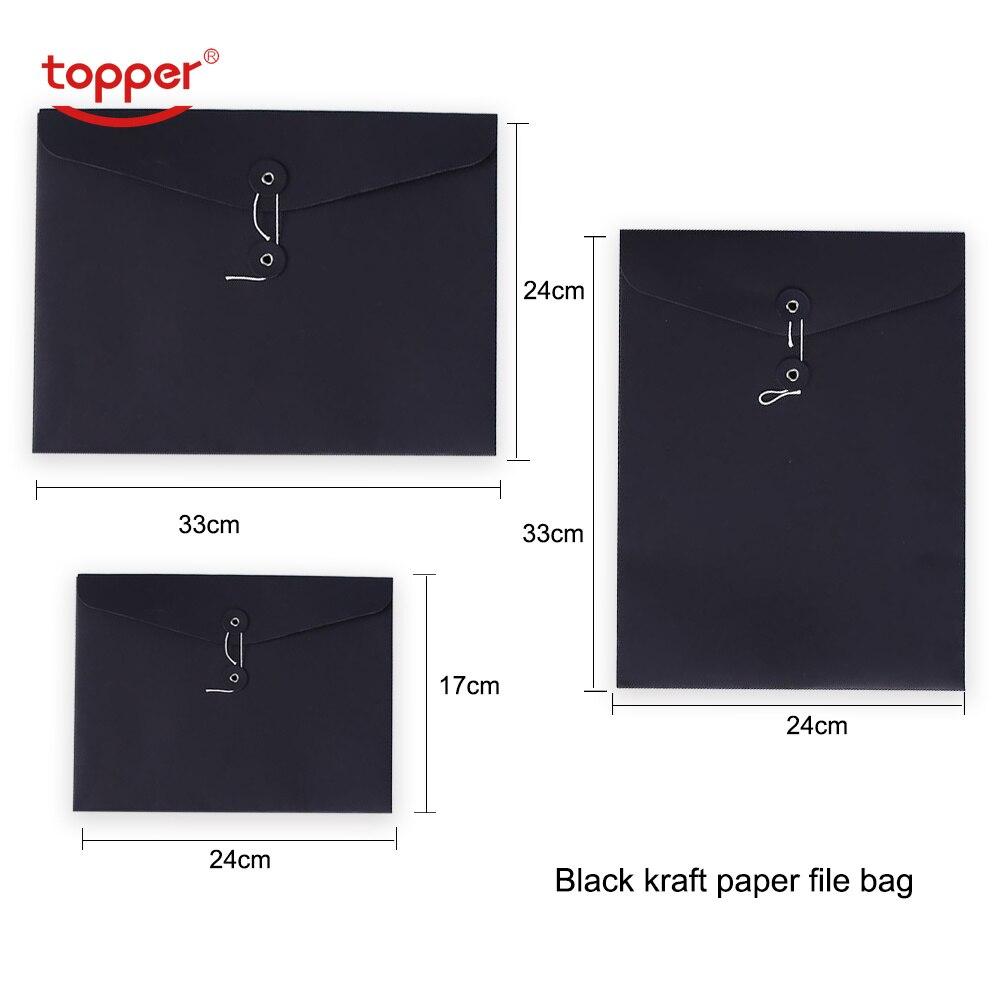 3pcs/lot A4 A5 A4 Vertical Size Kraft Paper File Bag  Paper Stationery Document Folder Office File Folders  School Envelope Bag