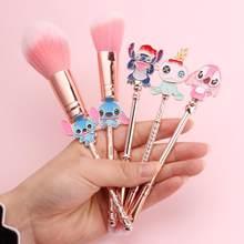 5 Pcs Anime Model Makeup Brush Set Girl Gift Makeup Tools Metal Handle