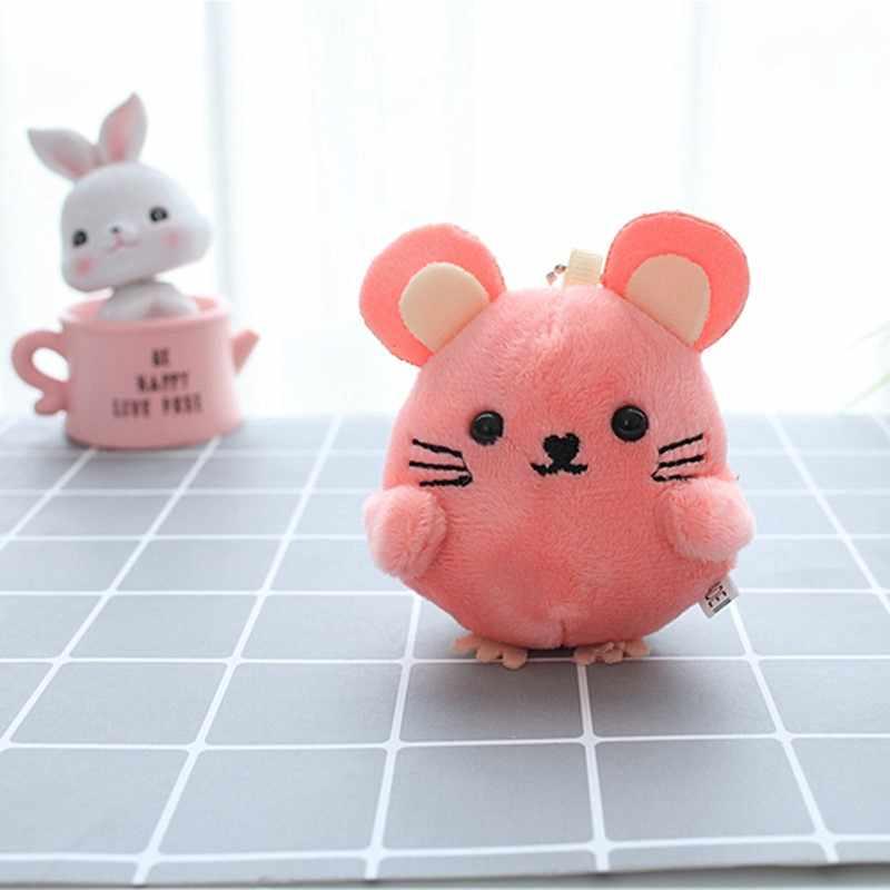 1PC חדש שנה קטיפה מיני חמוד 4-9CM כ יפה מיני עכבר צעצועי ארבעה צבעים בחירה ממולא חיה קטיפה צעצוע מפתח שרשרת בובות