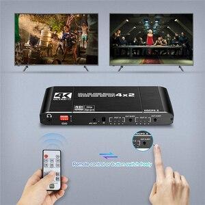 Image 4 - 2020 Best HDMI Matrix 4x2 4K 60Hz HDR HDMI ARC Switch Splitter 4 in 2 out Optical SPDIF + 3.5mm jack Audio HIFI HDMI Switcher