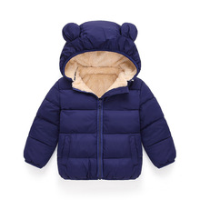 цена на Autumn Winter Kids Jackets For Girls Baby Jacket Warm Hooded Outerwear Coat For Boys Jacket Children Clothes 2 3 4 5 6 7 Years