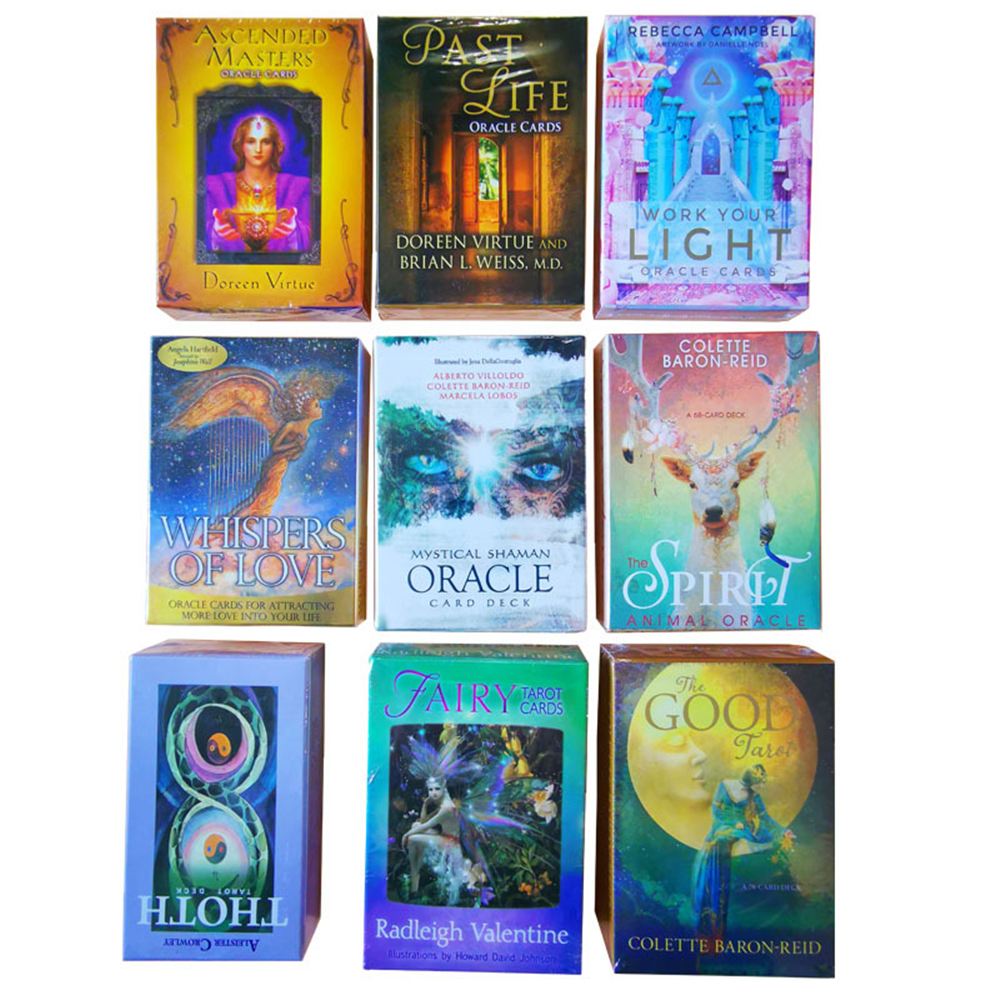 78pcs New Original Tarot English Version Work Your Light Mystical Shaman Tarot Deck Color Centennial Tarot Cards Game Board Game
