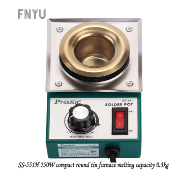 цена Pro'skit SS-551H 220V 150W stainless steel welding pot melting tin 0.3kg round tin furnace welding bath temperature 100℃-600℃ онлайн в 2017 году