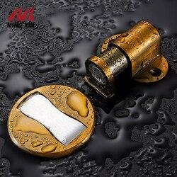 MX Stainless Steel Door Stopper Adjustable Height Strong Magnetic Door Stop No Perforated Sticker Waterproof Furniture Hardware