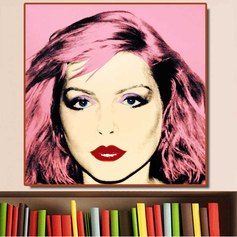 Andy Warhol Debbie Harry 1980 pop art canvas painting portrait posters and prints mordern decoration Wall pictures NO FRAME