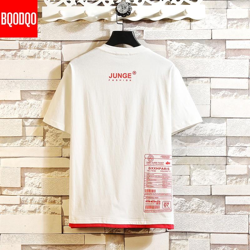 2019 T-shirts Streetwear Male Hip-hop T Shirt Men Fashion Tees Causal Japanese Summer Short Sleeve Oversized White Stylish Top