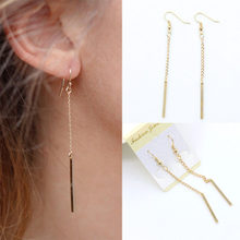 Simple Pendant Drop Earrings Tassel 2019 Fashion Oorbellen Pendientes Mujer Chain Long Earring For Women Statement Jewelry WD377(China)