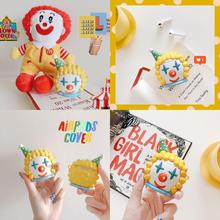 Earphone Case Cover For AirPods 1  2 Cute Cartoon 3D Clown Silicone For Apple Air pods 2 Bluetooth Wireless Earphone Accessories earphone case cover for airpods 1 2 cute cartoon 3d clown silicone for apple air pods 2 bluetooth wireless earphone accessories